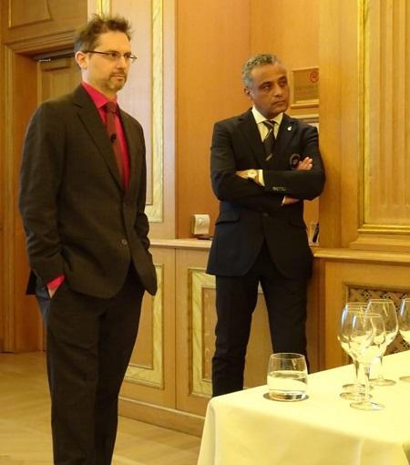 A sinistra Samuel Cogliati insieme al presidente di AIS Lombardia Hosam Eldin Abou Eleyoun